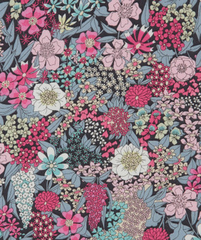 LIBERTY OF LONDON - CIARA Pink, 100% Cotton Tana Lawn, Per Half-Meter, CANADIAN SHOP. LIBERTY IN CANADA, Elegante Virgule