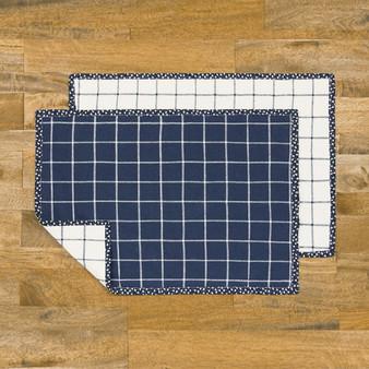 4 Reversible Placemats Kit - ROBERT KAUFMAN  Essex Linen Blend, Project Kit - ELEGANTE VIRGULE CANADA, Canadian Quilt Fabric Shop