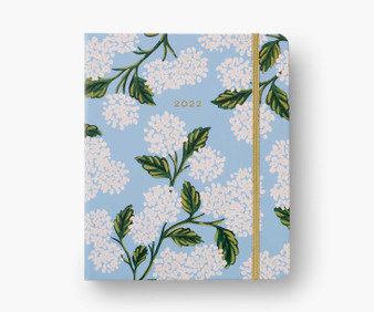 2022 17-month Hydrangea Large Planner - RIFLE PAPER CO Stationery Planner - ELEGANTE VIRGULE CANADA, Canadian Gift, Fabric and Quilt Shop.