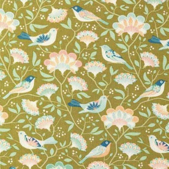 TILDA HARVEST,  Bird Tree in Green - Elegante Virgule Canada, Quilting Cotton, Canadian Quilt Shop