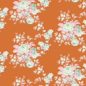 TILDA HARVEST,  Autumn Rose in Ginger - Elegante Virgule Canada, Quilting Cotton, Canadian Quilt Shop