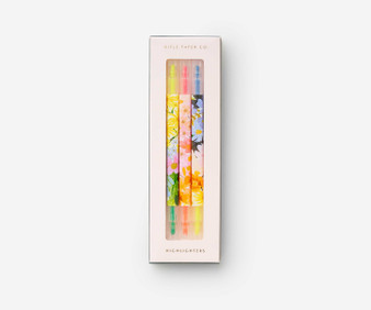 Marguerite Highlighter Set - RIFLE PAPER CO Stationery, Set of 3 double-sided  - ELEGANTE VIRGULE CANADA, Canadian Gift, Fabric and Quilt Shop.