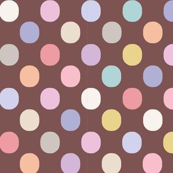 TILDA BASIC Plum Dot in Nutmeg, 100% Cotton, Per Half-Meter -  TILDA BASICS, Elegante Virgule Canada, Canadian Quilt Shop, Quilting Cotton