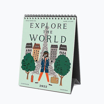 2022 Explore the World, Desk Calendar - RIFLE PAPER CO Stationery