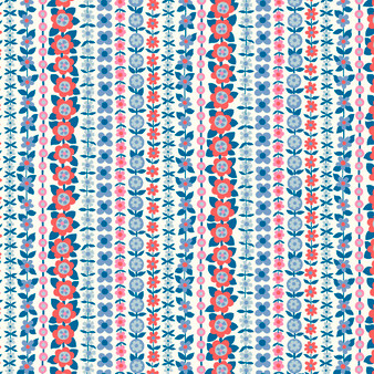 LIBERTY FABRICS, CARNABY COLLECTION Retro Indigo - Soho Stripe A Blue - by the half-meter - ELEGANTE VIRGULE CANADA, Canadian Quilting Shop - Liberty of London, Quilting Cotton