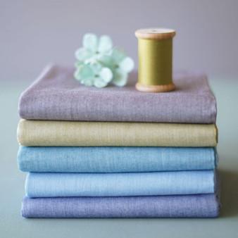 TILDA BASICS CHAMBRAY, Lavender Field - Bundle of 5 fabrics 100% Cotton. TILDA BASICS, Elegante Virgule Canada, Canadian Quilt Shop, Quilting Cotton