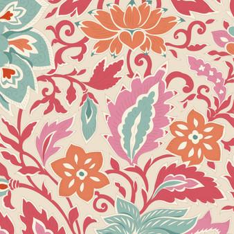 TILDA WINDY DAYS Skyler in Dusty Red - Elegante Virgule Canada, Quilting Cotton, Montreal Quebec Quilt Shop