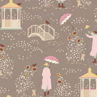 TILDA WINDY DAYS Windy Walk in Grey - Elegante Virgule Canada, Quilting Cotton, Montreal Quebec Quilt Shop
