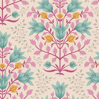 TILDA WINDY DAYS Breeze in Teal - Elegante Virgule Canada, Quilting Cotton, Montreal Quebec Quilt Shop