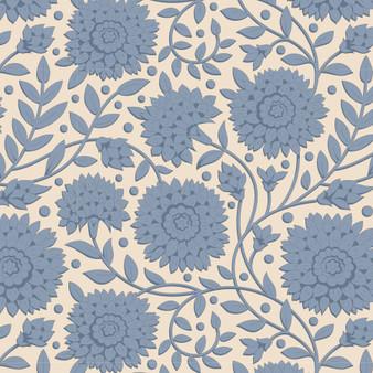 TILDA WINDY DAYS Aella in Blue - Elegante Virgule Canada, Quilting Cotton, Montreal Quebec Quilt Shop