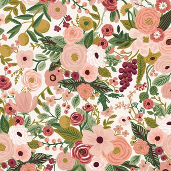 RIFLE PAPER CO, Garden Party in Rose,  ELEGANTE VIRGULE CANADA, CANADIAN FABRIC QUILT SHOP, Quilting Cotton