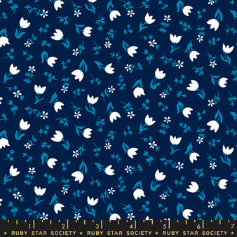 RUBY STAR SOCIETY, SMOL Tulip Calico in Navy - ELEGANTE VIRGULE CANADA, CANADIAN FABRIC SHOP, Quilting Cotton, Laval Montreal Quebec Quilt Shop