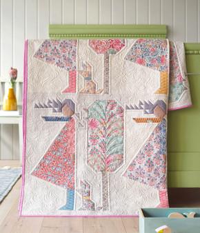 "TILDA Windy Days Quilt Kit 65"" x 82"" (165 x 207 cm) - Elegante Virgule Canada - Canadian Fabric shop, Quilting Cotton, Basic Quilt"