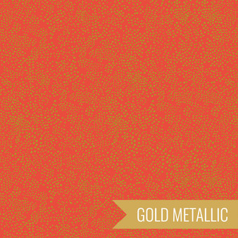 RIFLE PAPER CO BASICS, Menagerie Champagne in Red Metallic - by the half-meter - Elegante Virgule Canada, Canadian Fabric Quilt Shop, Quilting Cotton