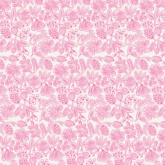 RIFLE PAPER CO, PRIMAVERA Moxie Floral in Neon Pink - by the half-meter,  ELEGANTE VIRGULE CANADA, CANADIAN FABRIC QUILT SHOP, Quilting Cotton