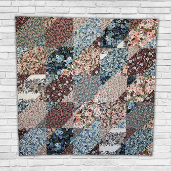 """BERRY CHEESECAKE Quilt in Rifle Parte Co, Garden Party - Quilt Kit 48"""" x 48"""" (122 x 122 cm) - ELEGANTE VIRGULE CANADA, CANADIAN FABRIC SHOP, Quilting Cotton"""