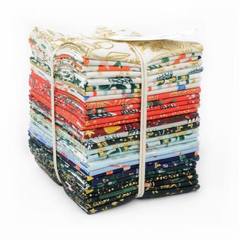 RIFLE PAPER CO, Holiday Classics, FQ Bundle of 29 fabrics  -  ELEGANTE VIRGULE CANADA, CANADIAN FABRIC QUILT SHOP, Quilting Cotton