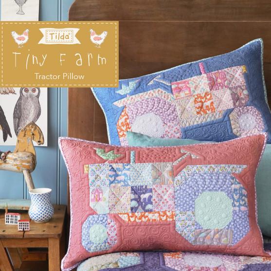 TILDA TINY FARM, Tractor Pillow Kit - Elegante Virgule Canada - Canadian Fabric shop, Quilting Cotton, TILDA Basic Classics Quilt, Patchwork