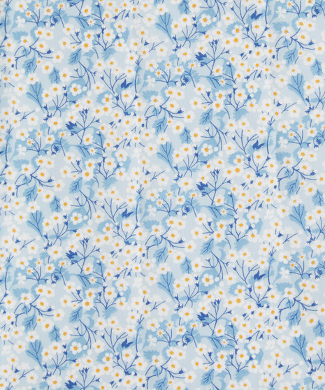 LIBERTY OF LONDON - MITSI VALERIA A Blue 100% Cotton Tana Lawn, Per Half-Meter, CANADIAN SHOP. LIBERTY IN CANADA, Elegante Virgule
