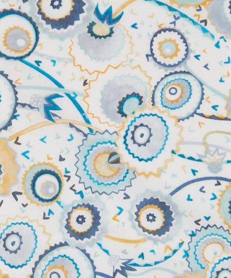 LIBERTY OF LONDON - POPS & BOO D Blue 100% Cotton Tana Lawn, Per Half-Meter. CANADIAN SHOP. LIBERTY IN CANADA, Elegante Virgule