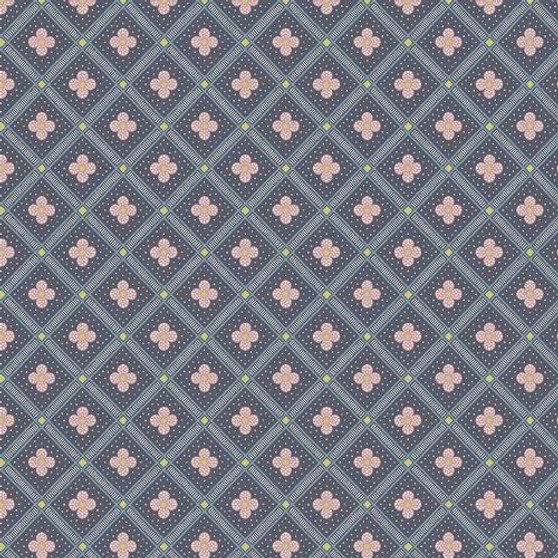 LIBERTY OF LONDON Quilting cotton, Manor Tile Z in Charcoal, ELEGANTE VIRGULE