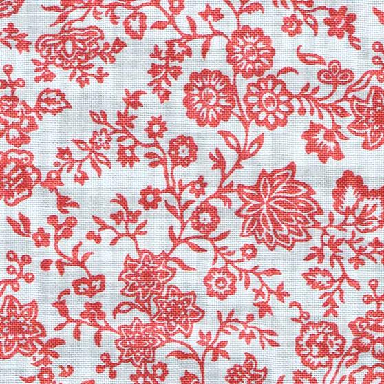 LIBERTY OF LONDON Quilting cotton, Hampton Vines Y in Red, ELEGANTE VIRGULE, Canadian Fabric Shop