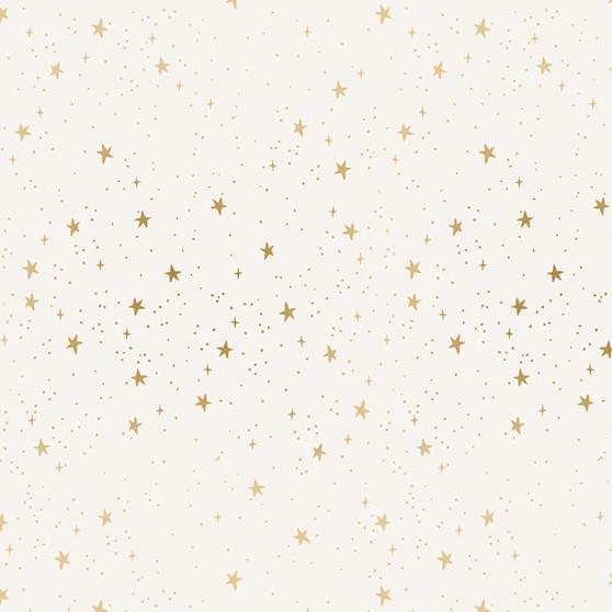 RIFLE PAPER CO, PRIMAVERA Stars in Cream Metallic,  ELEGANTE VIRGULE, CANADIAN FABRIC SHOP