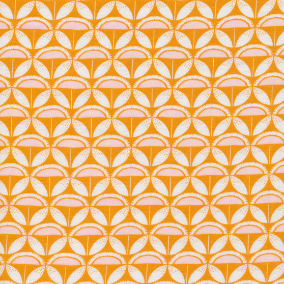 CLOUD 9, GOOD VIBRATIONS - Sun patch,  100% ORGANIC Cotton - by the half-meter, ELEGANTE VIRGULE, CANADIAN FABRIC SHOP