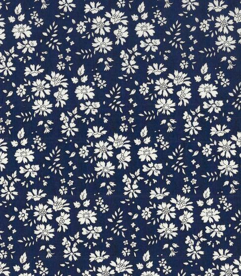 LIBERTY OF LONDON - CAPEL A Navy 100% Cotton Tana Lawn, Per Half-Meter, CANADIAN SHOP. LIBERTY IN CANADA, Elegante Virgule