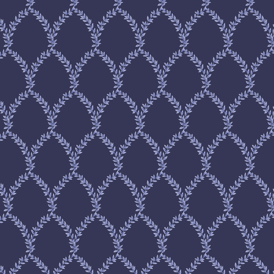 RIFLE PAPER CO, Strawberry Fields LAUREL in Navy,  ELEGANTE VIRGULE, CANADIAN FABRIC SHOP