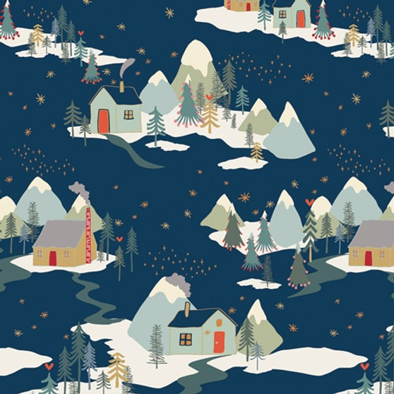 ART GALLERY FABRICS Cozy and Joyful, WINTER WONDERLAND - by the half-meter, ELEGANTE VIRGULE, Canadian Fabric Shop