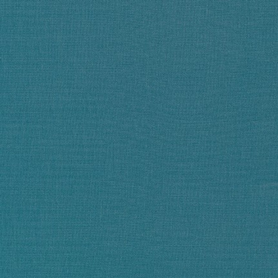 KONA Teal Blue - by the half-meter, ELEGANTE VIRGULE CANADA, Canadian Fabric Shop, Quilting cotton