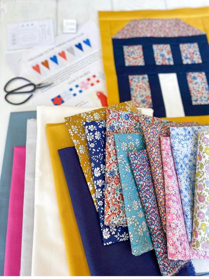 LIBERTY OF LONDON Quilt Kit - The Thread House Folk Dance BOM Quilt - ELEGANTE VIRGULE CANADA, Canadian Fabric Shop, Quilting Cotton