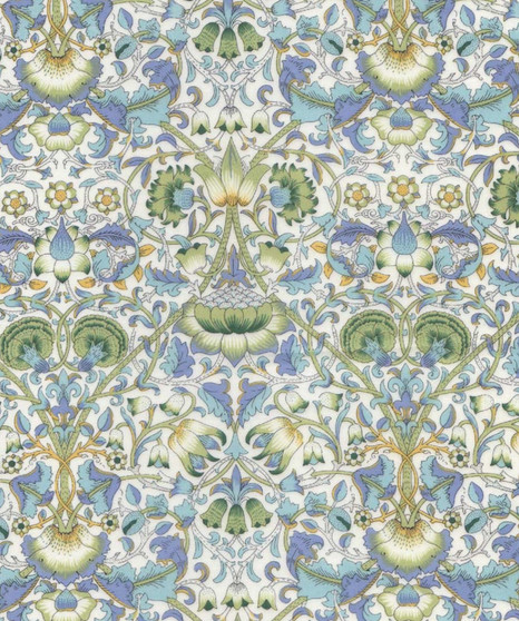 LIBERTY OF LONDON - LODDEN G Green 100% Cotton Tana Lawn, Per Half-Meter. Elegante Virgule Canada, CANADIAN FABRIC SHOP. Quilt Shop