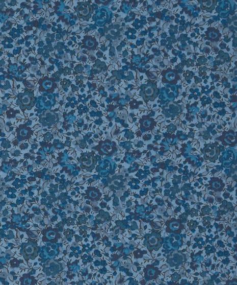 LIBERTY OF LONDON - EMMA & GEORGINA F Dark Blue 100% Cotton Tana Lawn, Per Half-Meter. CANADIAN SHOP. LIBERTY IN CANADA, Elegante Virgule, Quilting Shop