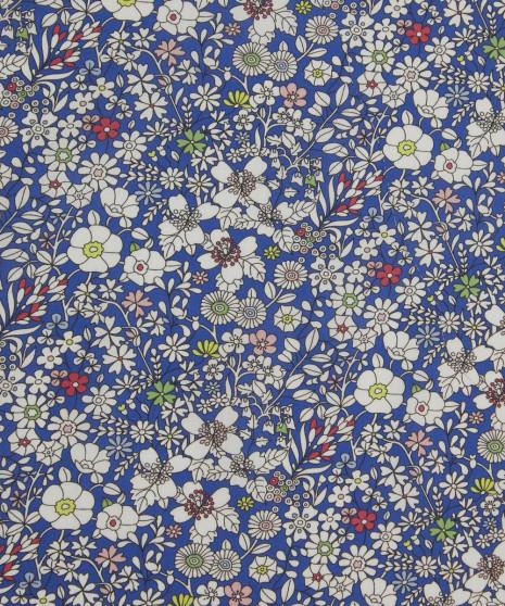LIBERTY OF LONDON - JUNE'S MEADOW Dark Blue 100% Cotton Tana Lawn, Per Half-Meter. CANADIAN SHOP. LIBERTY IN CANADA, Elegante Virgule, Quilting Shop