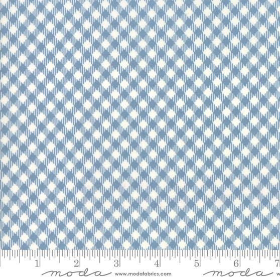 MODA SWEETWATER Branded, PICNIC CHECK in Cream Blue - ELEGANTE VIRGULE CANADA, CANADIAN FABRIC SHOP, Quilting Cotton