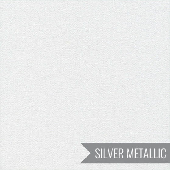 CLOUD 9, GLIMMER SOLIDS in Frost Metallic,  100% ORGANIC Cotton - by the half-meter, ELEGANTE VIRGULE CANADA, CANADIAN FABRIC SHOP, Quilting Cotton, Organic Fabric