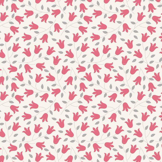 TILDA Sophie in Red, 100% Cotton. TILDA BASICS, Elegante Virgule Canada, Canadian Quilt Shop, Quilting Cotton