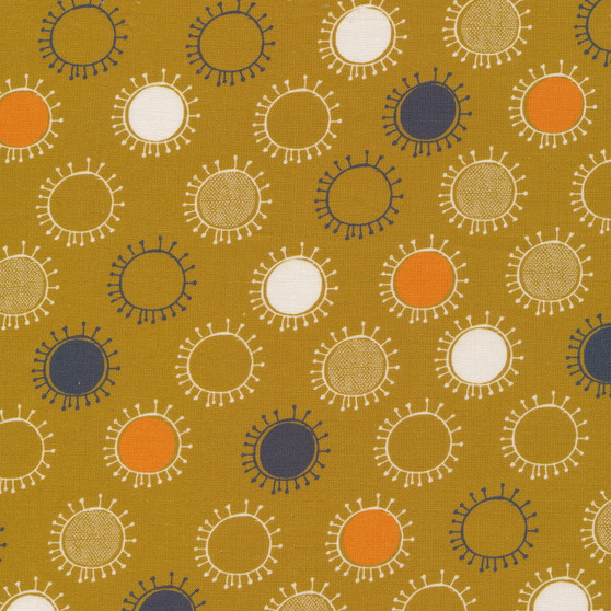 CLOUD 9, LISBON SQUARE - Afternoon Sun - 100% ORGANIC Cotton - by the half-meter, ELEGANTE VIRGULE, CANADIAN FABRIC SHOP, QUILTING COTTON