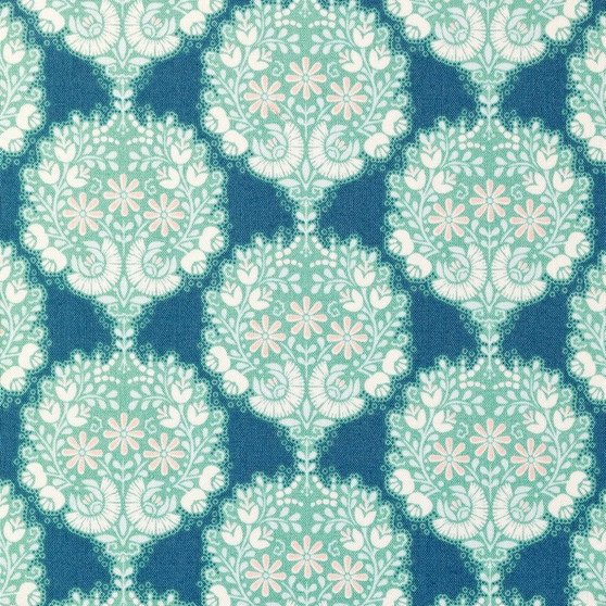 TILDA HARVEST,  Flower Tree in Blue - Elegante Virgule Canada, Quilting Cotton, Canadian Quilt Shop