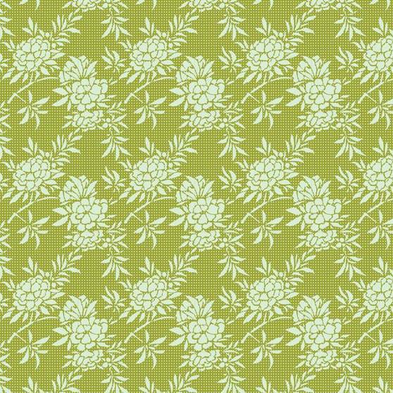 TILDA HARVEST,  Flower Bush in Green - Elegante Virgule Canada, Quilting Cotton, Canadian Quilt Shop