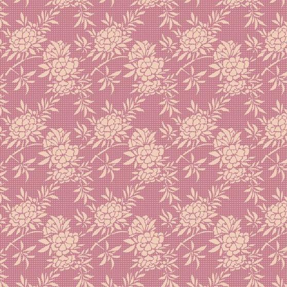 TILDA HARVEST,  Flower Bush in Pink - Elegante Virgule Canada, Quilting Cotton, Canadian Quilt Shop