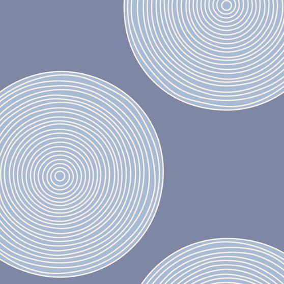 "TILDA WIDEBACKS, Luna Blue, 108"" Width (274 cm) By the Half-Meter - Elegante Virgule Canada, Canadian Fabric Quilt Shop, Quilting Cotton"