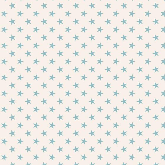 TILDA CLASSIC BASICS Tiny Star in Light Blue, 100% Cotton. TILDA BASICS, Elegante Virgule Canada, Canadian Quilt Shop, Quilting Cotton
