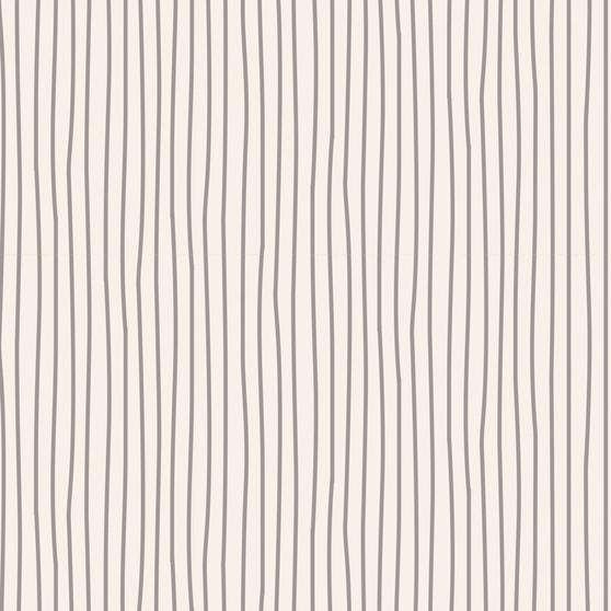 TILDA CLASSIC BASICS Pen Stripe in Grey, 100% Cotton. TILDA BASICS, Elegante Virgule Canada, Canadian Quilt Shop, Quilting Cotton