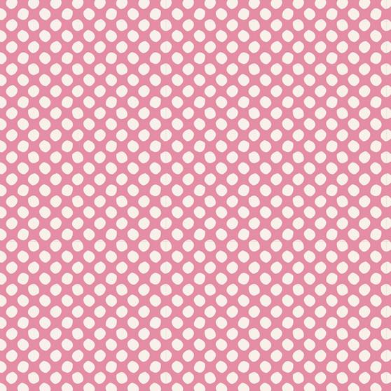 TILDA CLASSIC BASICS Paint Dots in Pink, 100% Cotton. TILDA BASICS, Elegante Virgule Canada, Canadian Quilt Shop, Quilting Cotton