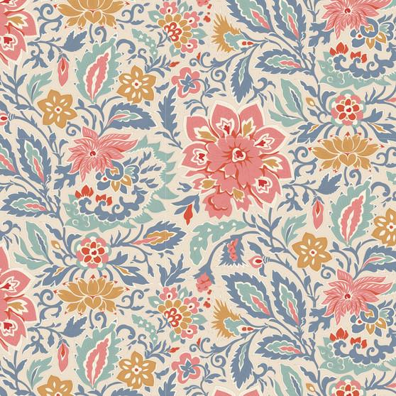 TILDA WINDY DAYS Skyler in Blue - Elegante Virgule Canada, Quilting Cotton, Montreal Quebec Quilt Shop