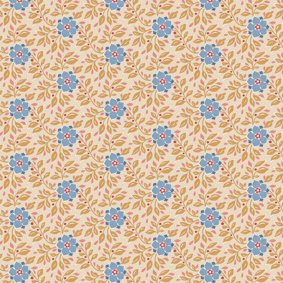 TILDA WINDY DAYS Wendy in Camel - Elegante Virgule Canada, Quilting Cotton, Montreal Quebec Quilt Shop