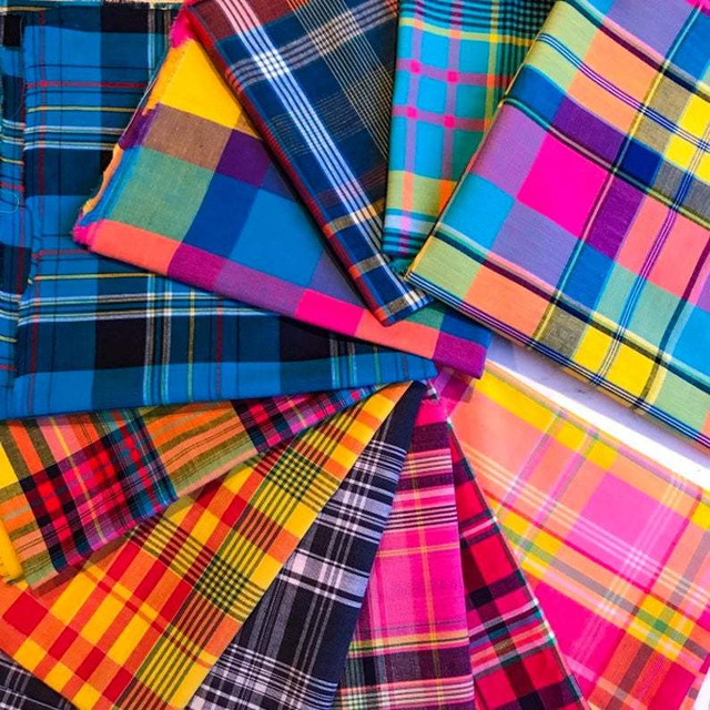 Madras Fabric, Elegante Virgule Canada, Quilting Cotton Shop